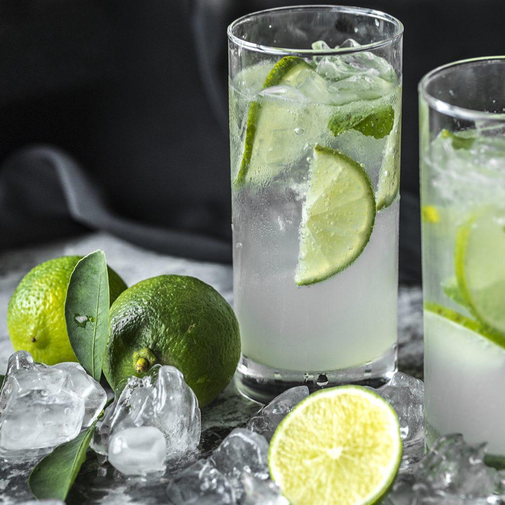 Colorful soda drinks